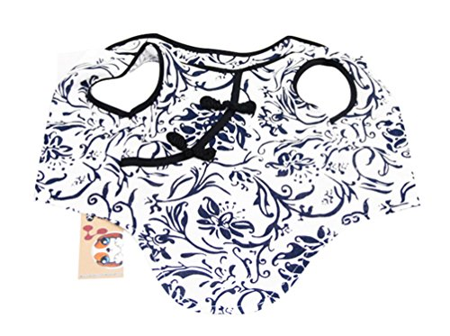 Please Adopt Me Costume (Freerun Dog Cat Dress Chinese Style Blue and White Porcelain Cheongsam Vest Clothes Costume - S)