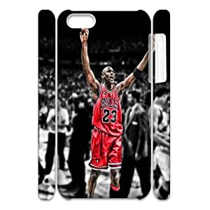 DIY Michael Jordan 3D Back Case for iPhone 5c, Customized Michael Jordan 3D Iphone 5C Hard Back Case, Michael Jordan 3D iPhone 5c Phone Case WANGJING JINDA