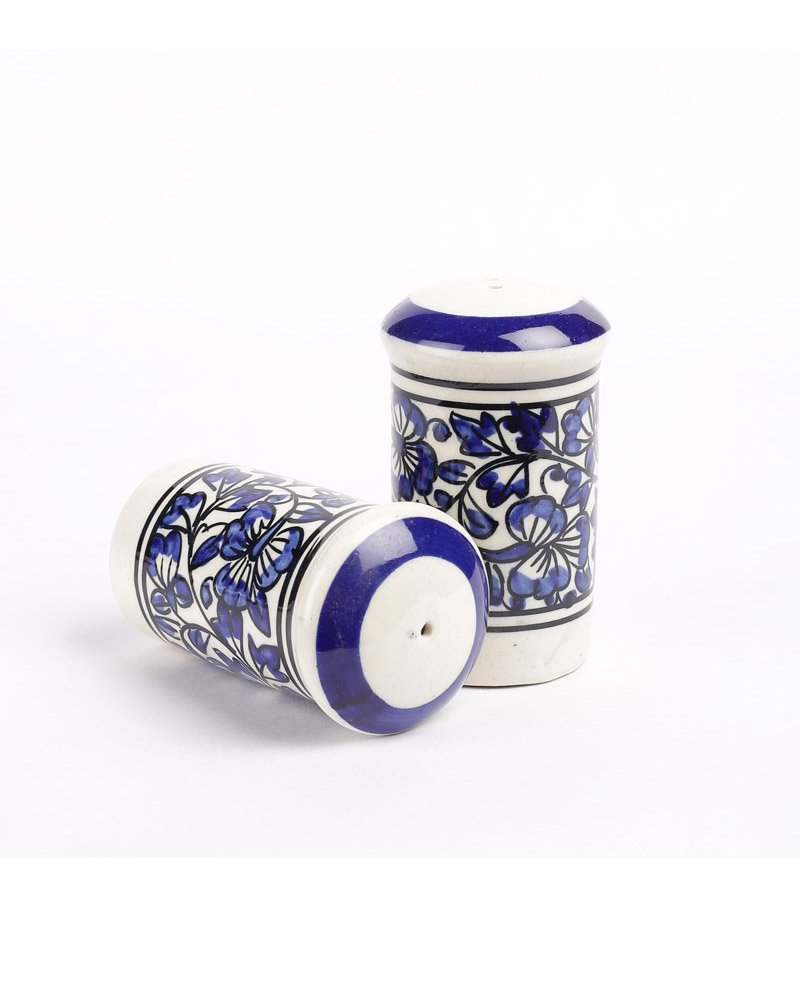 VarEsha Blue Eeramic Salt n Pepper Set Of 2 - For Kitchen / Dinning Ware