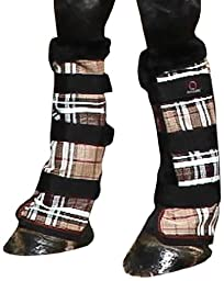 Kensington KPP Protective Fly Boots, Deluxe Black Plaid, Horse