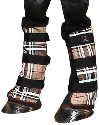 kensington-kpp-protective-fly-boots-deluxe-black-plaid-horse