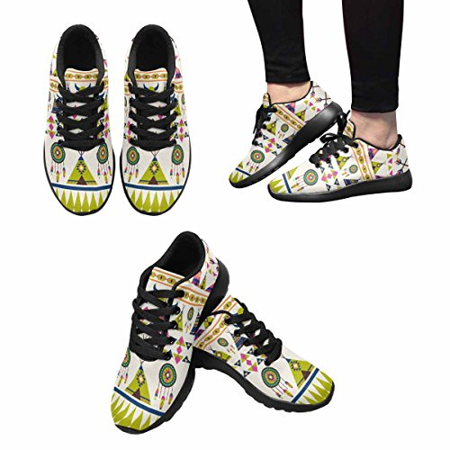 Modello Di Impronta Digitale Etnica Womens Jogging Running Sneaker Leggero Go Easy Shoes Multi 1