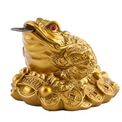 Feng Shui Money LUCKY Fortune Wealth Chinese Frog Toad Coin Home Office Decoration Tabletop Ornaments Good Lucky Gifts