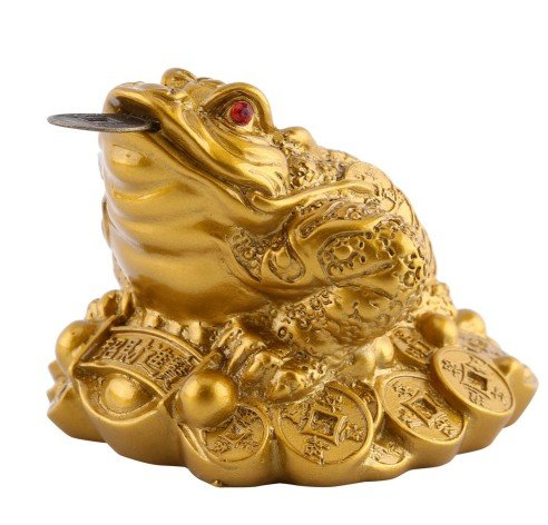 Feng Shui Money LUCKY Fortune Wealth Chinese Frog Toad Coin Home Office Decoration Tabletop Ornaments Good Lucky - Edinburgh Outlets