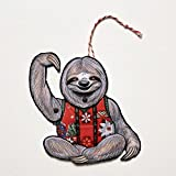 Set of 3 Sloth Ugly Sweater Jointed Gift Tags or Christmas Ornaments