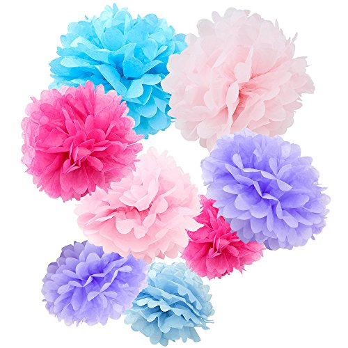 WYZworks Set of 8 (Assorted Cotton Candy Pink/Purple/Blue Color Pack) 8