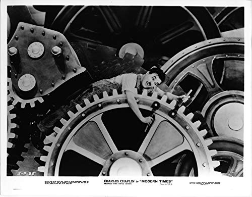 Giant Of Modern Photography At >> Charles Chaplin In Giant Wheel Cogs 8x10 Publicity Photo Modern