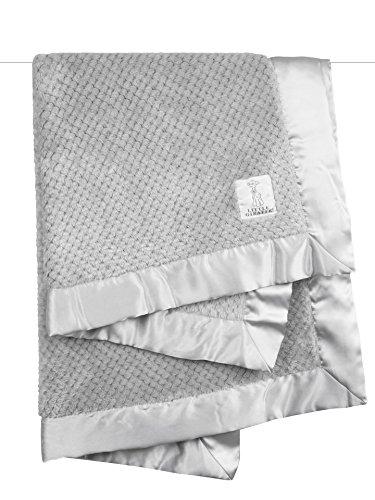 Little Giraffe Silver Honeycomb Baby Blanket 36x30