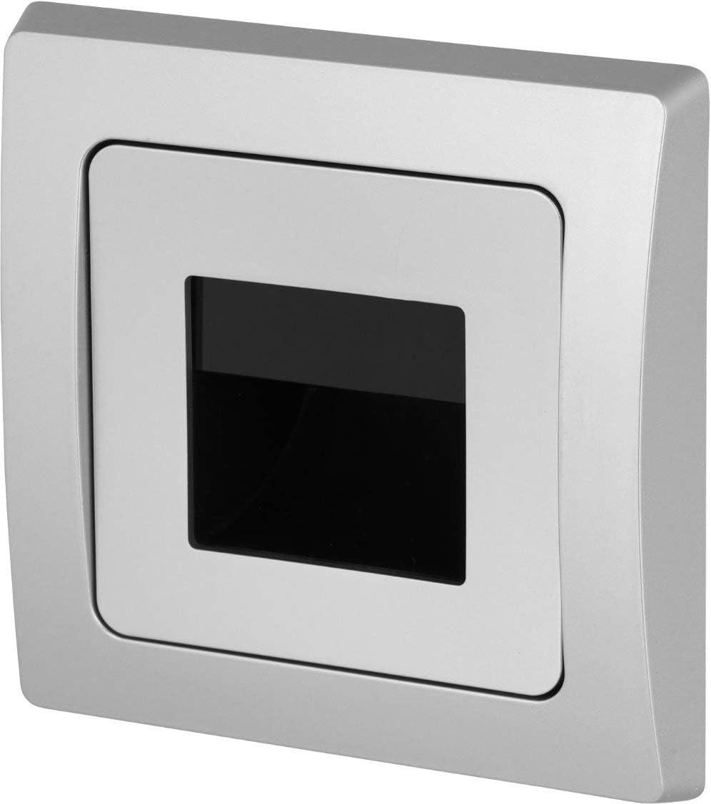 LED COB pared empotrable (230 V Blanco Cálido – para botes en los años 60 Interruptor – 1,5 W 110LM – Foco empotrable Nivel Luz Escaleras Luz, plata, LED 1.5 watts 230.00 volts: Amazon.es: Iluminación