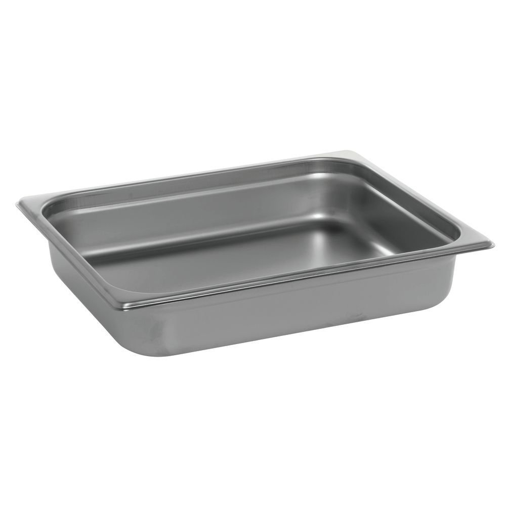 HUBERT Steam Table Pan, 1/2 Size 22 Gauge Stainless Steel - 2 1/2''D