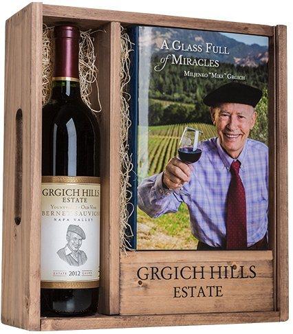 2012 Grgich Hills Estate Yountville Cabernet Sauvignon + book