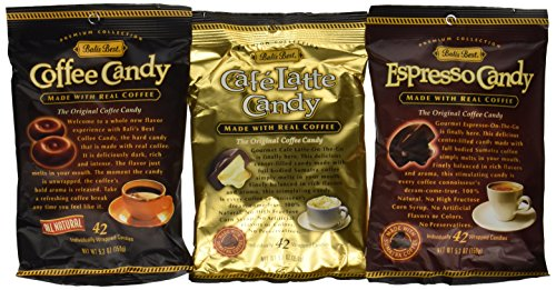 Bali's Best Coffee, Espresso and Latte Candy Three Pack, 5.3oz Latte Candy