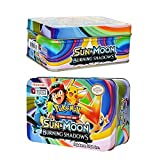 KidsDelight Pokemon 42 Cards in 1, Sun & Moon Burning Shadows Card Game with Metal Box Latest Collector's 2018 Edition with surprise 32 Basic/ Stage 1 & 2 Cards + 4 Energy Cards,+ 3 Trainer Cards+ 3 Rare GX Cards