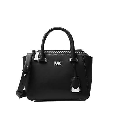 Amazon.com  Michael Michael Kors Nolita Mini Leather Satchel - Black ... 06de1833f0