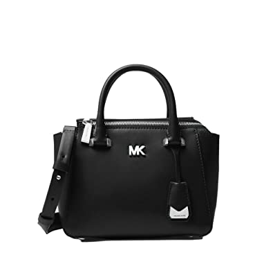 137971a950f715 Amazon.com: Michael Michael Kors Nolita Mini Leather Satchel - Black ...