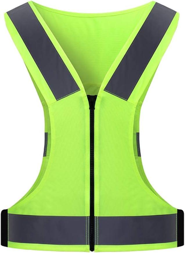 MM Chaleco Reflectante Funcionamiento de la Noche a Caballo Reflector de Secado rápido Transpirable Seguridad del Tráfico Chaleco Maratón de Campo través Prenda de Vestir Seguridad Industrial