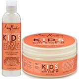 Shea Moisture Coconut & Hibiscus Kids Combo Pack - Includes Kids Curling Butter Cream, 6 Oz & Kids Curl & Shine 2-in-1 Shampoo & Conditioner, 8 Oz