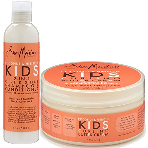 Shea Moisture Coconut & Hibiscus Kids Combo Pack - Includes