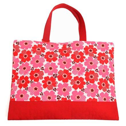 Kids Lektion Tasche von handgefertigten Sinn (Quilten) Nordic Bl?te rot in Japan N0232000 (Japan-Import) gemacht