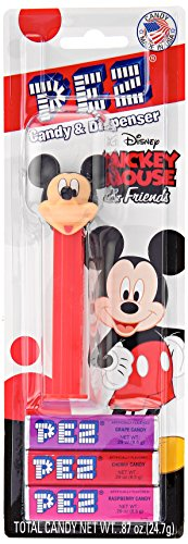 PEZ candy Mickey Mouse & FRIENDS ASSORTED Dispenser Net Wt