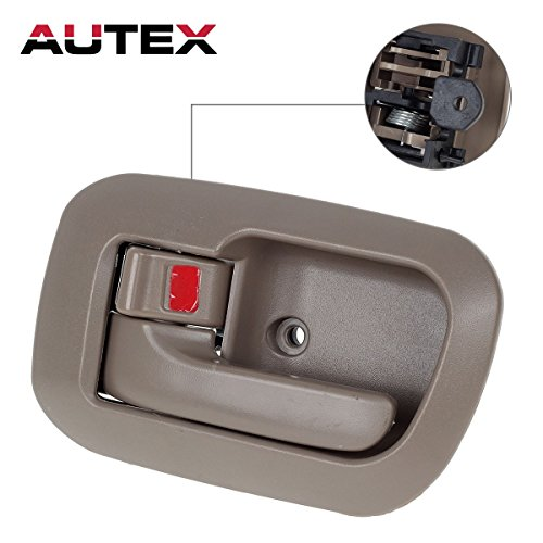 AUTEX 1pc Beige Interior Door Handle (Front Left Side Driver Side) Replacement Compatible with 1998 1999 2000 2001 2002 2003 Toyota Sienna 80533, 69278-08010-E0, 6927808010-E0, 6927808010E0 (Sienna Driver Toyota)