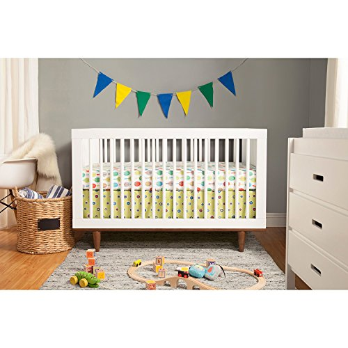 5 Cool Cribs That Convert To Full Beds: Babymod Marley 3-in-1 Convertible Crib, White And Walnut