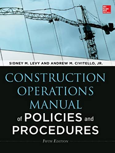 amazon com construction operations manual of policies and rh amazon com CD Manual Operations Manual Examples