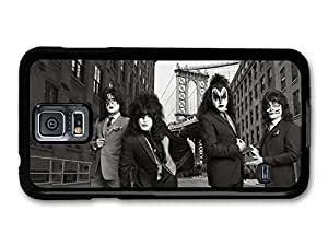 AMAF ? Accessories Kiss Band Black and White Photoshoot in Suits case for Samsung Galaxy S5