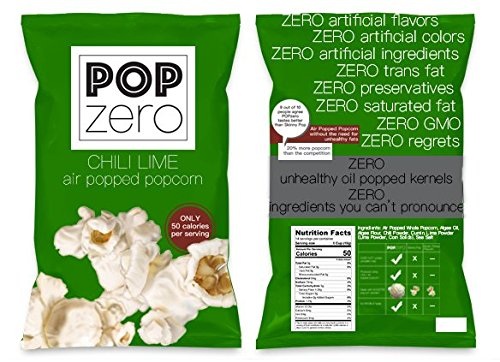 [Pop Zero Chili Lime Popcorn Bulk Party Packs - 7 Large Bags ( 6 oz each) of Chilie and Lime Flavored Gourmet Popcorn - Light and Healthy Non GMO Air Popped Kernels] (Hollywood Toys Costumes Hours)