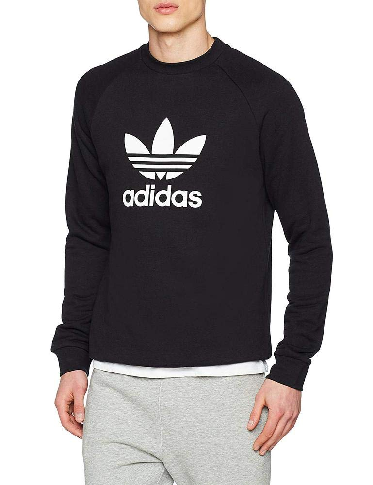 adidas Trefoil Crew Sweat-Shirt Homme  Amazon.fr  Sports et Loisirs ed4fe7cde9f6