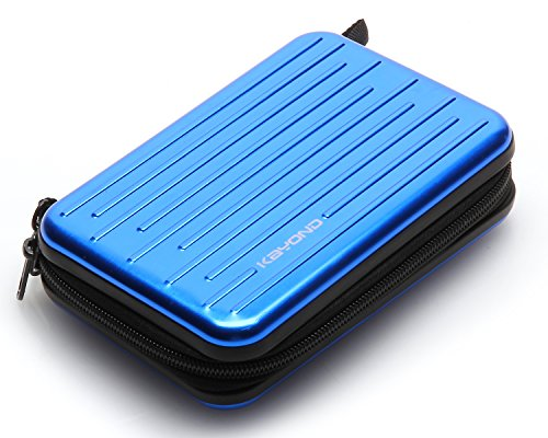 KAYOND Anti-shock Silver Aluminium Carry Travel Protective Storage Case Bag for 2.5'' Inch Portable External Hard Drive HDD USB 2.0/3.0 (blue) by KAYOND (Image #1)