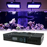 16'' Programmable LED Aquarium Light Fixture - EUPHOTICA 16'' Full Color Spectrum Saltwater Coral Fish Tank Grow Light