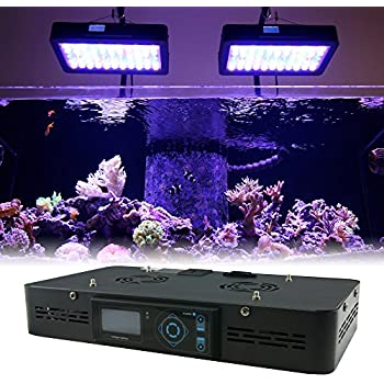 "16"" Programmable LED Aquarium Light Fixture - EUPHOTICA 16"" Full Color Spectrum Saltwater Coral Fish Tank Grow Light"