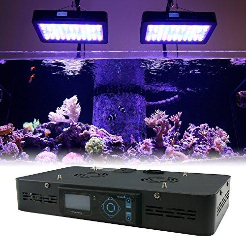16'' Programmable LED Aquarium Light Fixture - EUPHOTICA 16'' Full Color Spectrum Saltwater Coral Fish Tank Grow Light by Hobbie Bug
