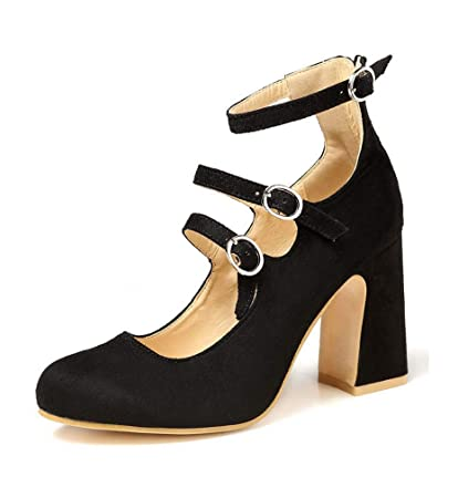 fc28fdab5d Womens Ladies High Wedge Heel Pumps Platform Double Strap Shoes Size UK 3-8  Black
