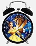 Beauty and the Beast Alarm Desk Clock 3.75'' Home Office Decor F04 Nice For Gifts