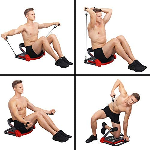 TOGEDI Core Trainers Ab Crunch Home Abdominal Cardio Machine Body Fitness Pectoral Muscle Biceps Building Workout Exerciser