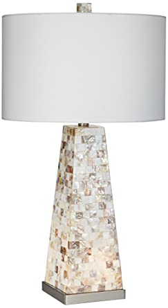 Lorin mother of pearl table lamp with night light amazon lorin mother of pearl table lamp with night light aloadofball Choice Image