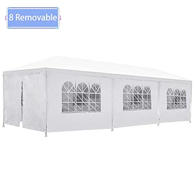 Warm House Party Tent Outdoor Balcony Barbecue Tent, 10X30 Foot Outdoor Large Terrace Tent with 8 Removable Sidewalls Can be Used for Parties, Weddings Festivals Celebrations Parties Gardens : Garden & Outdoor