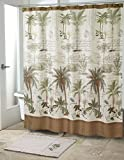 Avanti Linens 13668HIVR Colony Palm Shower Curtain, Medium, Ivory