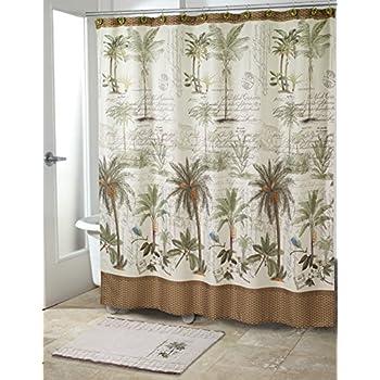 Amazon Com Hawaiian Tropical Fabric Shower Curtain
