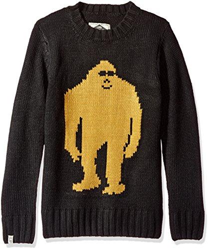 Airblaster Sassy Sasquatch Bigfoot Sweater, Black, Large - Airblaster Pullover