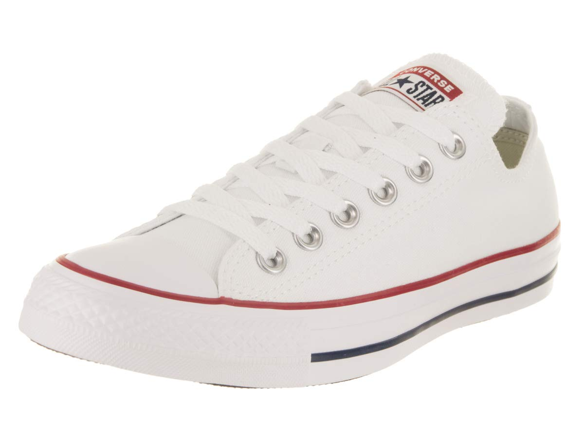 Converse Unisex Chuck Taylor All Star Low Top Optical Wht Sneakers - Men 9.5 Women 11.5 by Converse