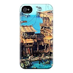 Hot Pirate Cove Tavern First Grade PC Phone Case For Iphone 4/4s Case Cover WANGJING JINDA