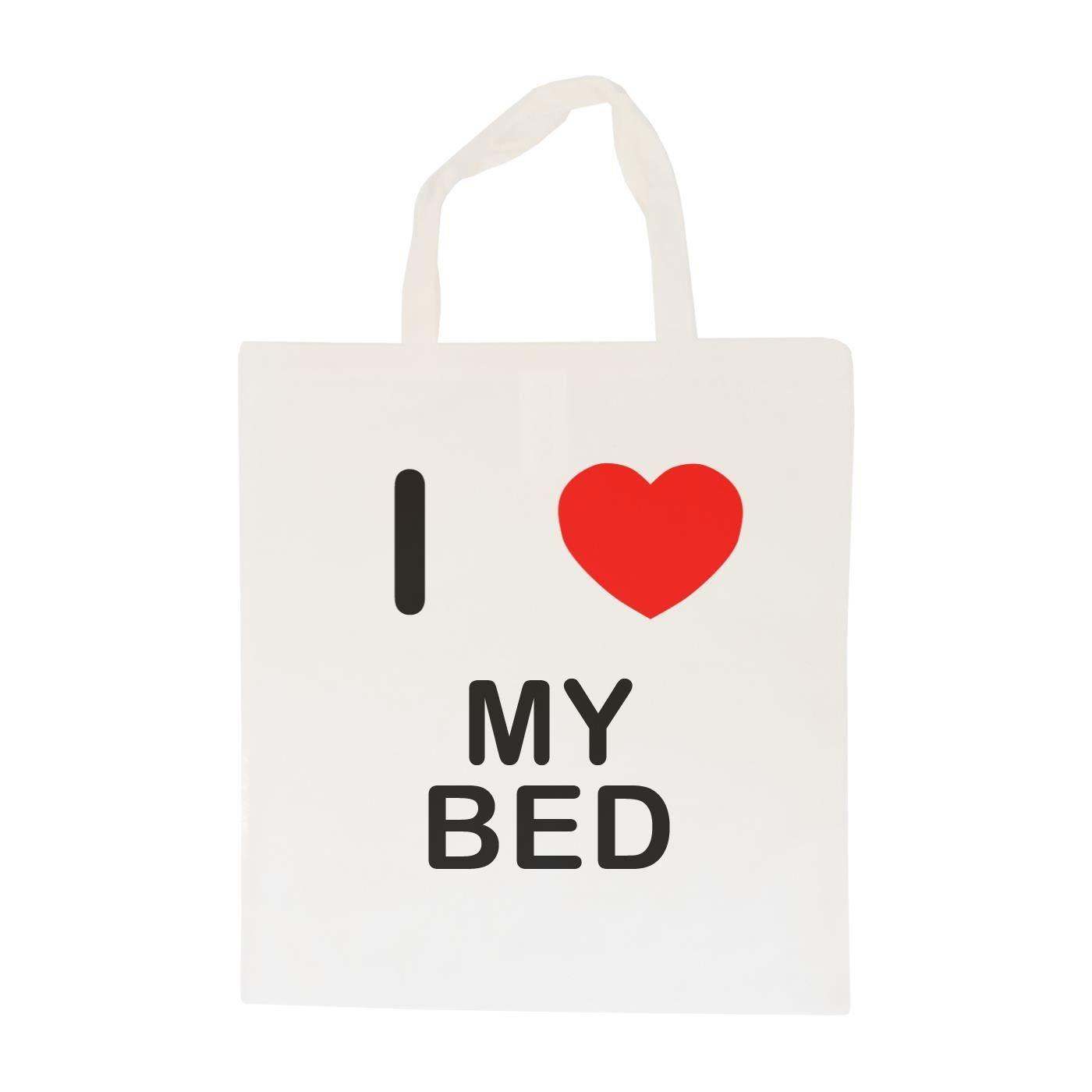 I Love My Bed Sac /à provisions en Coton Maxi