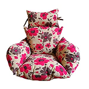 Telismei ?ufs Suspendus Coussins de Chaise Swing pour Jardin intérieur et extérieur Patio Confortable Relaxant (sans Berceau) (B) 4