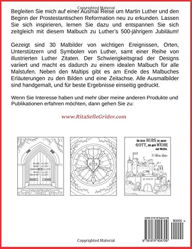 Amazon Com 500 Jahre Luther Jubiläums Malbuch 30