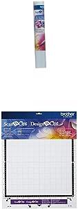 "Brother ScanNCut High Tack Adhesive Fabric Support Sheet - CASTBL2, Teal and Standard Mat 12""x12"", CAMATSTD12, 12"