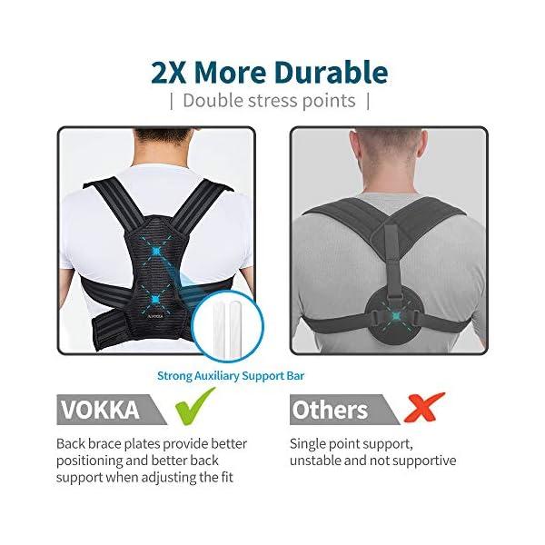 VOKKA Correcteur de Posture pour Homme & Femme, Soutien Spinal/Dos, Réduit la Douleur du Cou, Dos & Épaules, Bretelles…