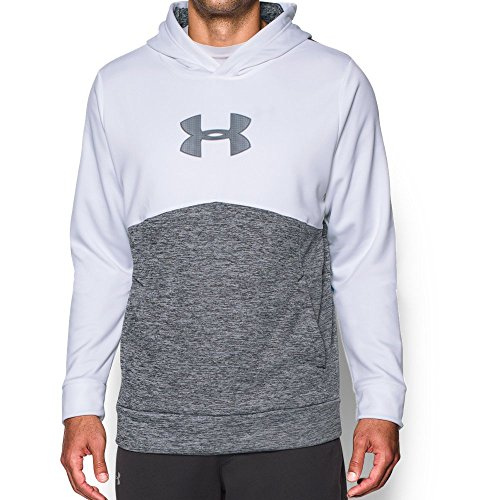 Under Armour Men's Storm Icon Logo Twist Hoodie, White (100)/Steel, XXX-Large